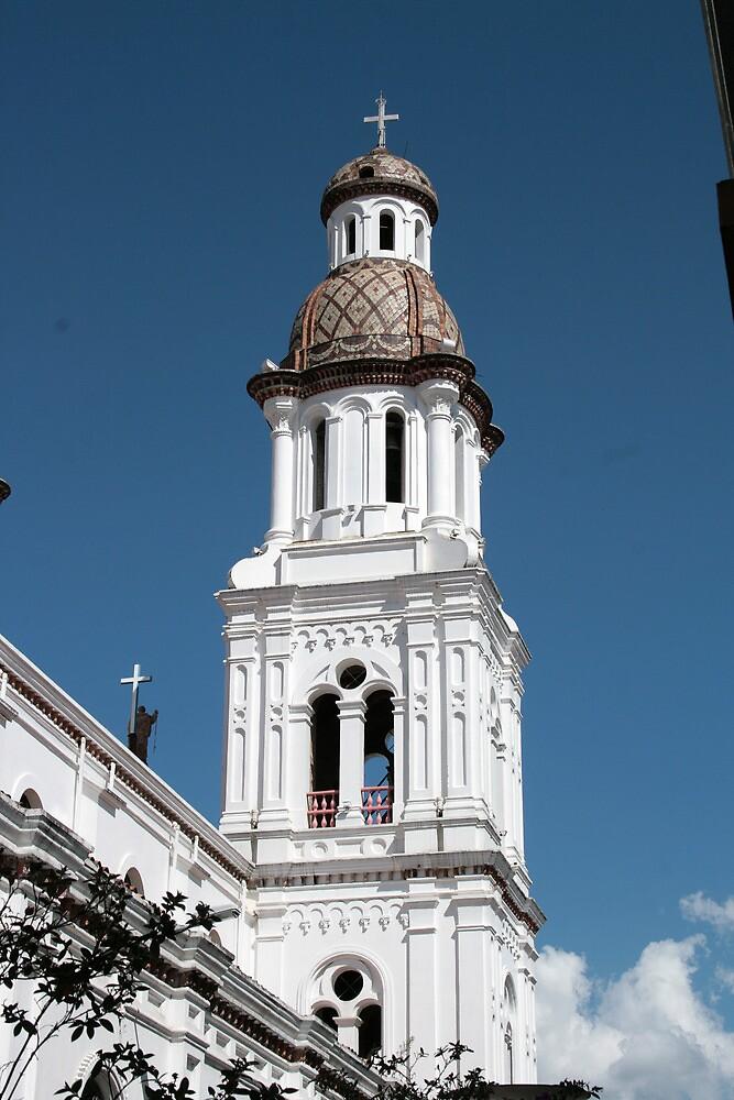 Church Tower in Cuenca by rhamm