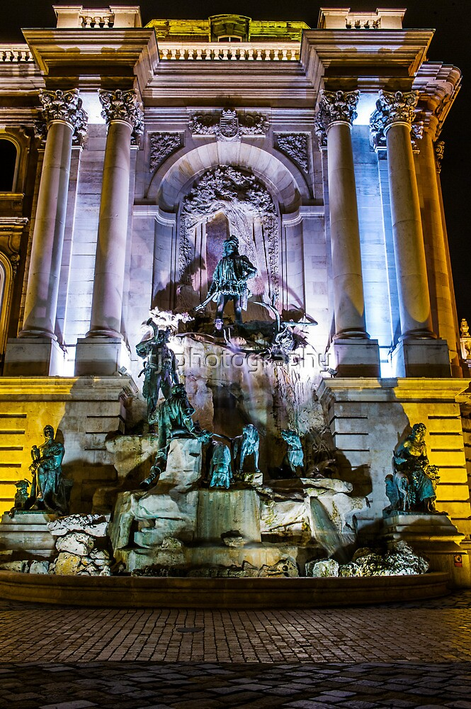 Castle fountain of budapest by tj-photography