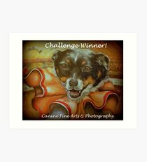 Challenge Winner Banner Art Print