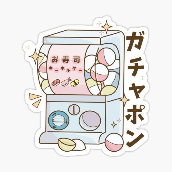 Cute Gachapon Machine Sticker