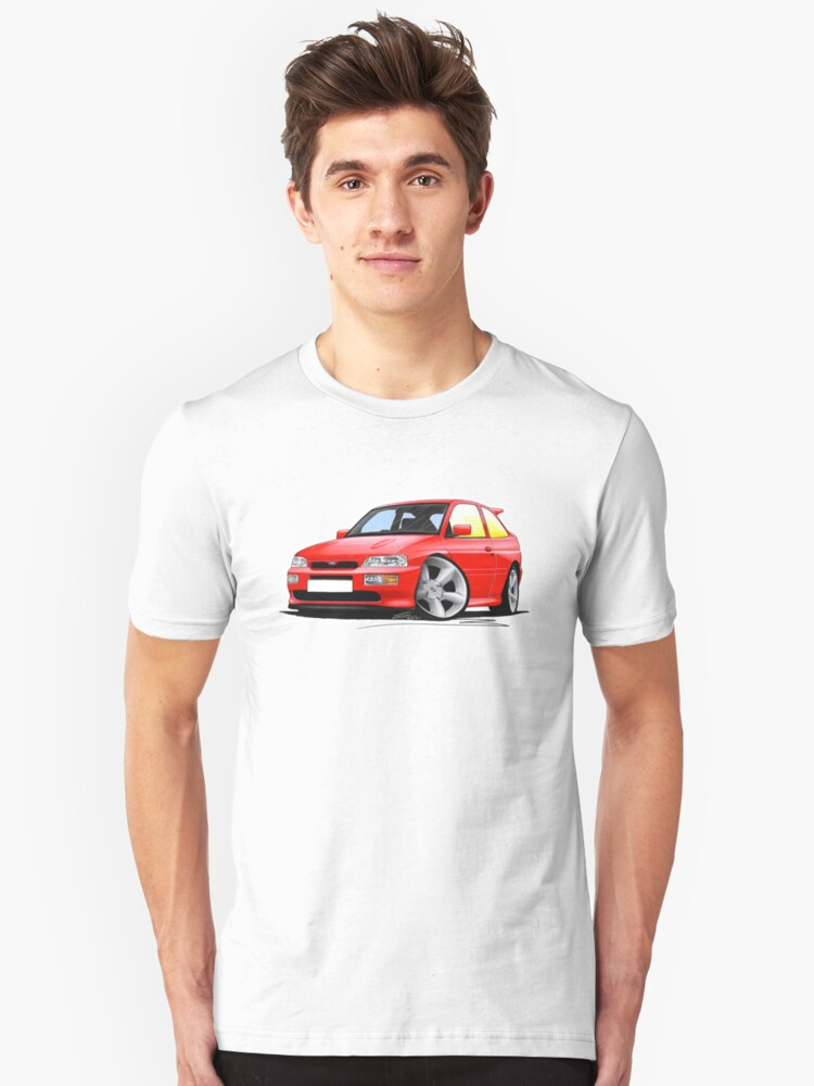 Ford Escort RS Cosworth Red Unisex T-Shirt Front