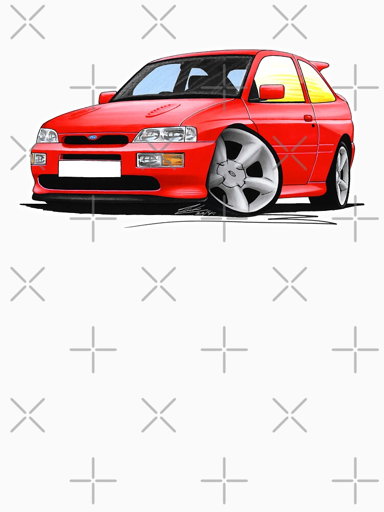 Ford Escort RS Cosworth Red by yeomanscarart