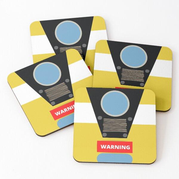 Borderlands character Clap Trap design Coasters (Set of 4)