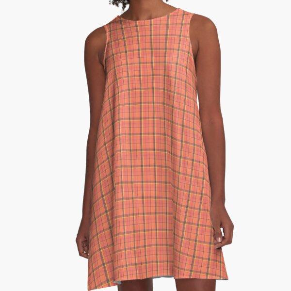 Orange Tartan Dress A-Line Dress