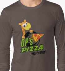 OP's Pizza Delivers (large - no pun intended) Long Sleeve T-Shirt