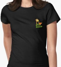 OP's Pizza Delivers (small pocket) Womens Fitted T-Shirt