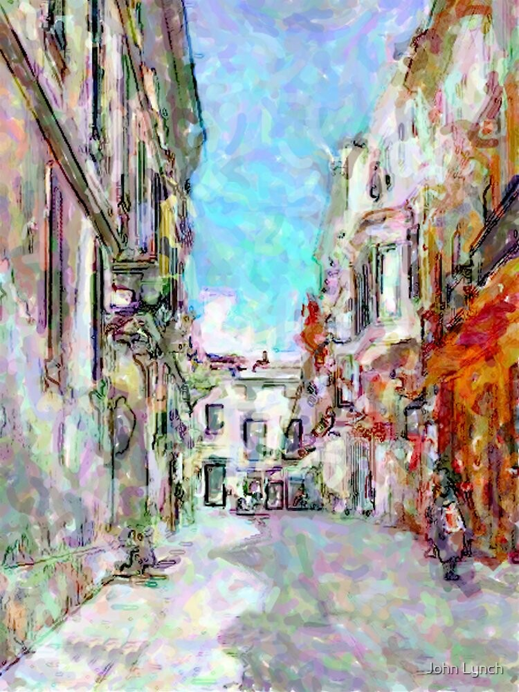 Digital street painting, Ciutadella by John Lynch