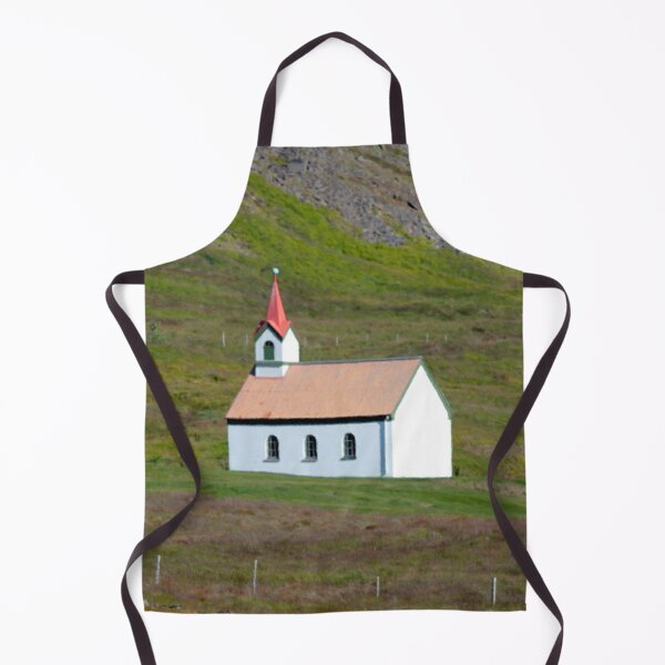 Watercolor Architecture, Icelandic Church 02 Apron
