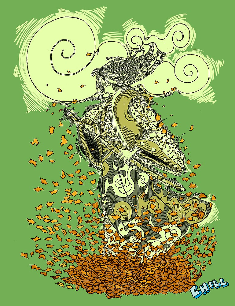 Autumn Samurai (Green) by JCHILLI