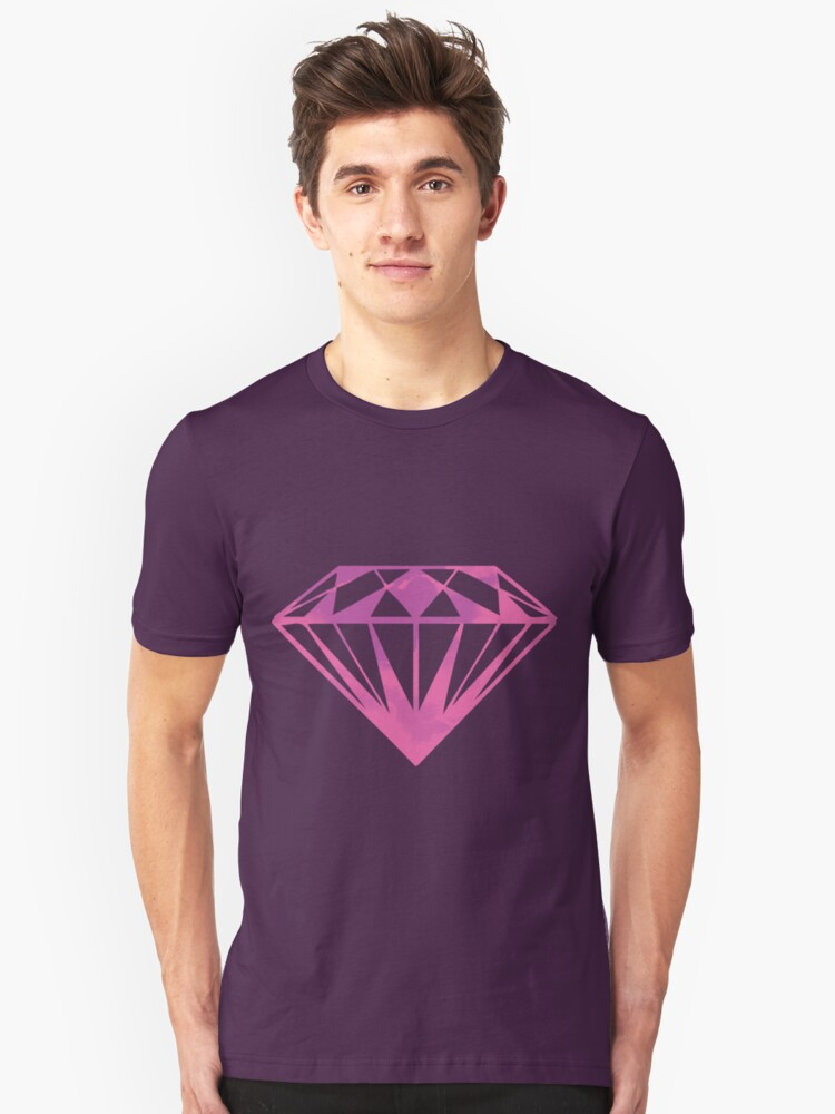 DIAMOND PURPLE Unisex T-Shirt Front