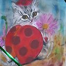 My little Lady Bug Kitten by David M Scott