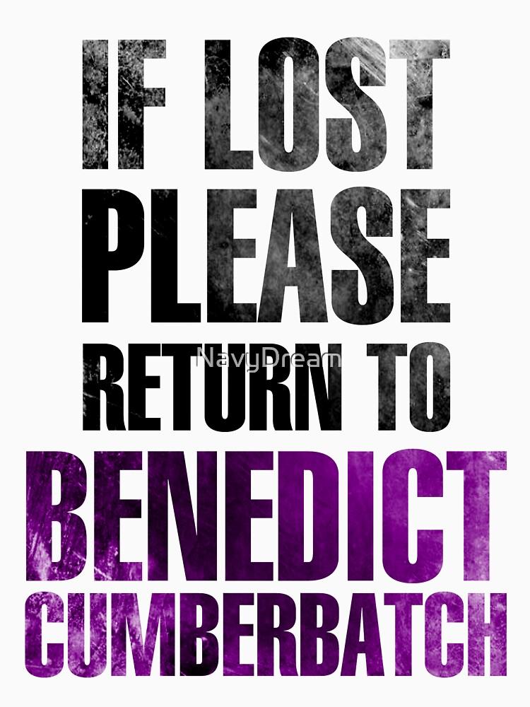 If lost please return to Benedict Cumberbatch | Unisex T-Shirt