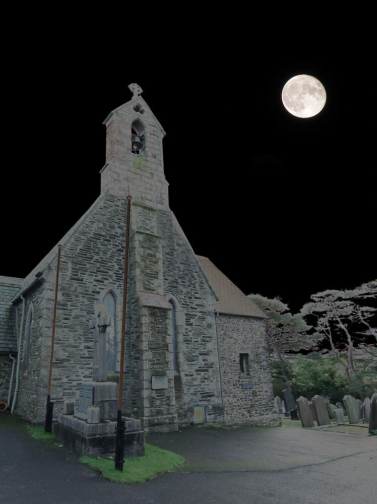 Midnight in Marown churchyard by manxthor