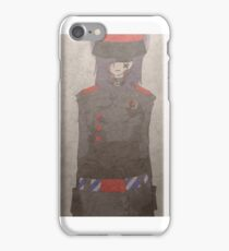 Old Vintage Military Style Manga Neko War Time Photo iPhone Case/Skin