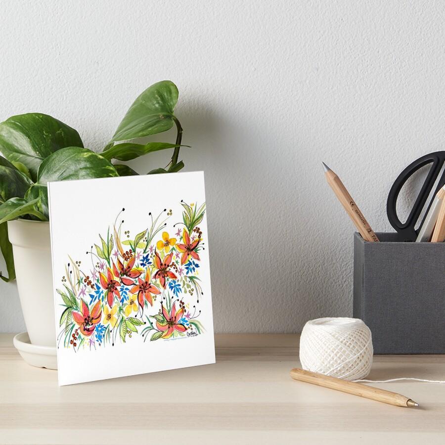Hawaii Sings with Flowers Art Board Print