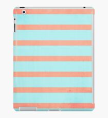 Two Tone Stripes (Coral/Blue) iPad Case/Skin