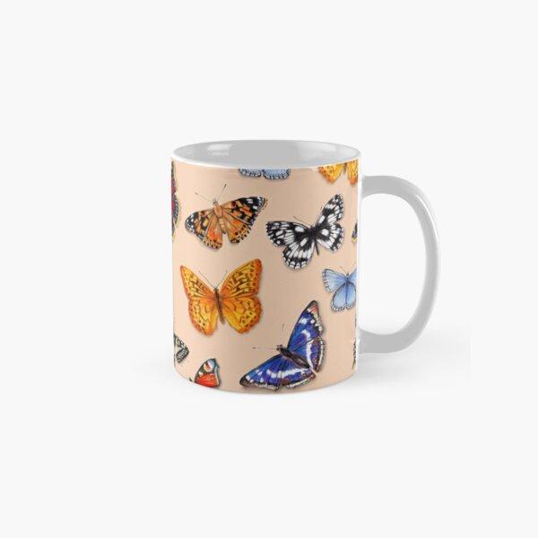 Butterflies on warm terracotta Classic Mug