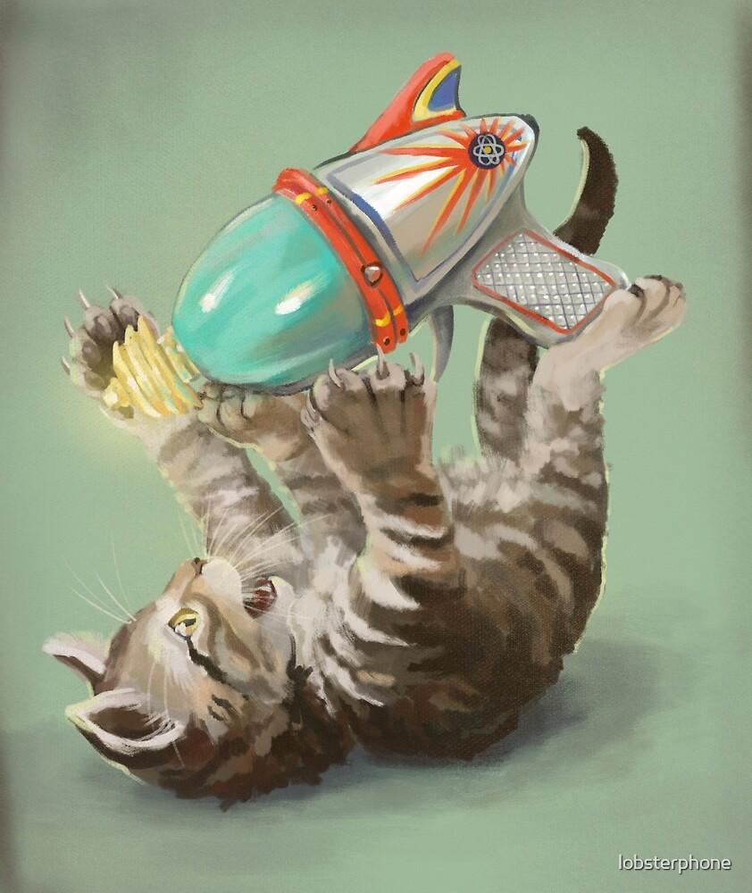 Ray Gun Kitten by lobsterphone