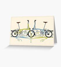Brompton Bicycle Greeting Card