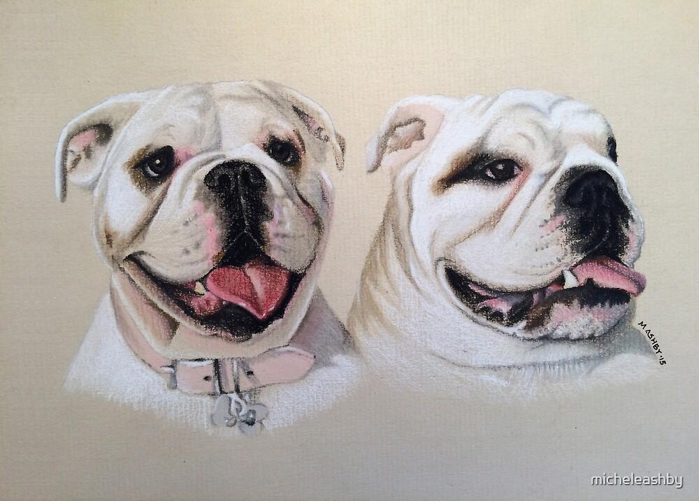 Oakie & Julesy - British Bulldogs by micheleashby
