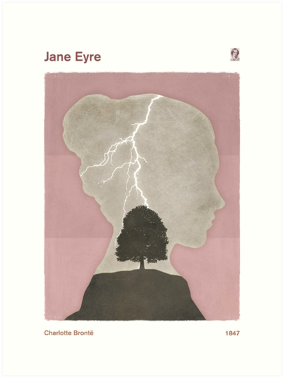 "Charlotte Brontë ""Jane Eyre"" by RedHillPrints"