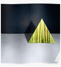 Green Triangle Standing Poster