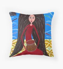 Pot of Gold  Mary Magdalene Throw Pillow