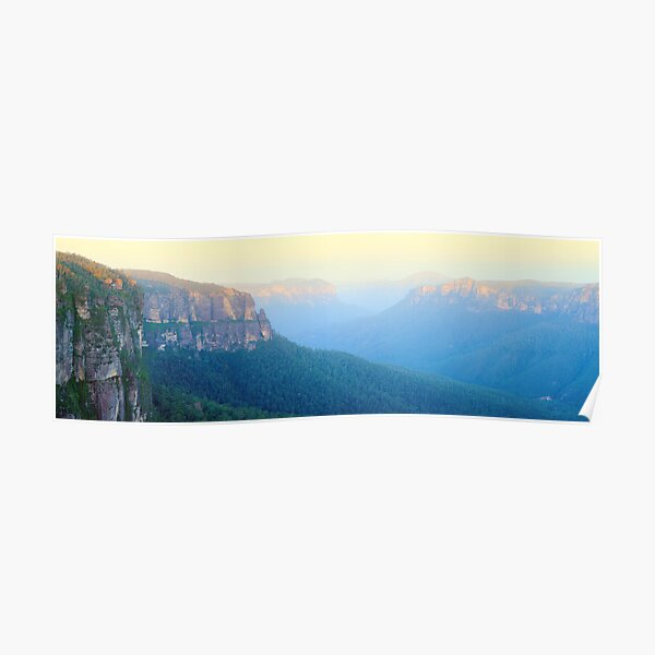 Govetts Leap, Blue Mountains, New South Wales, Australia Poster