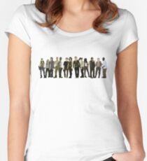 The Walking Dead Cast 2015/16 Women's Fitted Scoop T-Shirt
