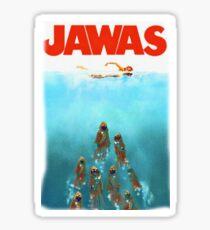 funny star wars jawas tshirt Sticker