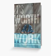Worth The Work - Lettered Greeting Card