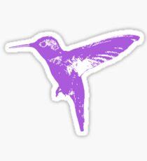 Hummingbird Purple Sticker