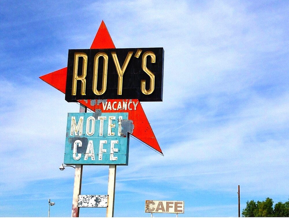 Roy's Motel and Cafe, Amboy, CA by ClaireTompkins