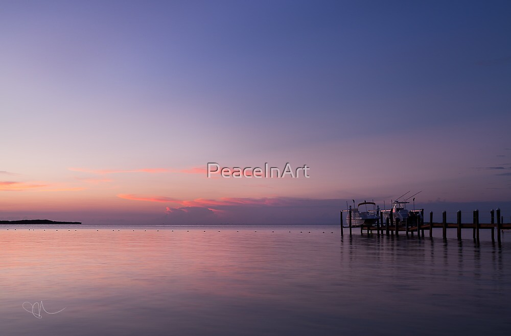 Sunset in Key Largo by PeaceInArt