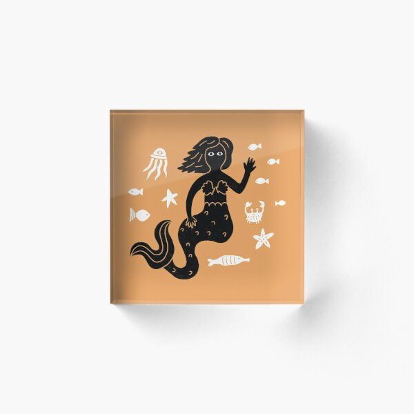 Ocean Mermaid Acrylic Block