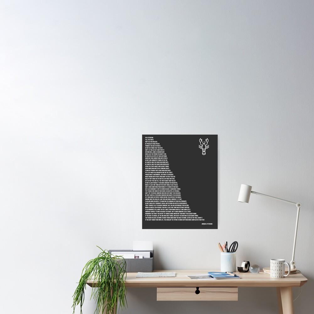 Jordan B Peterson's Rules Poster