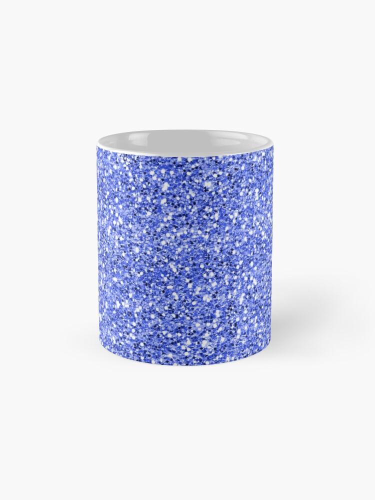 Alternate view of Blue glitter background on to Mug