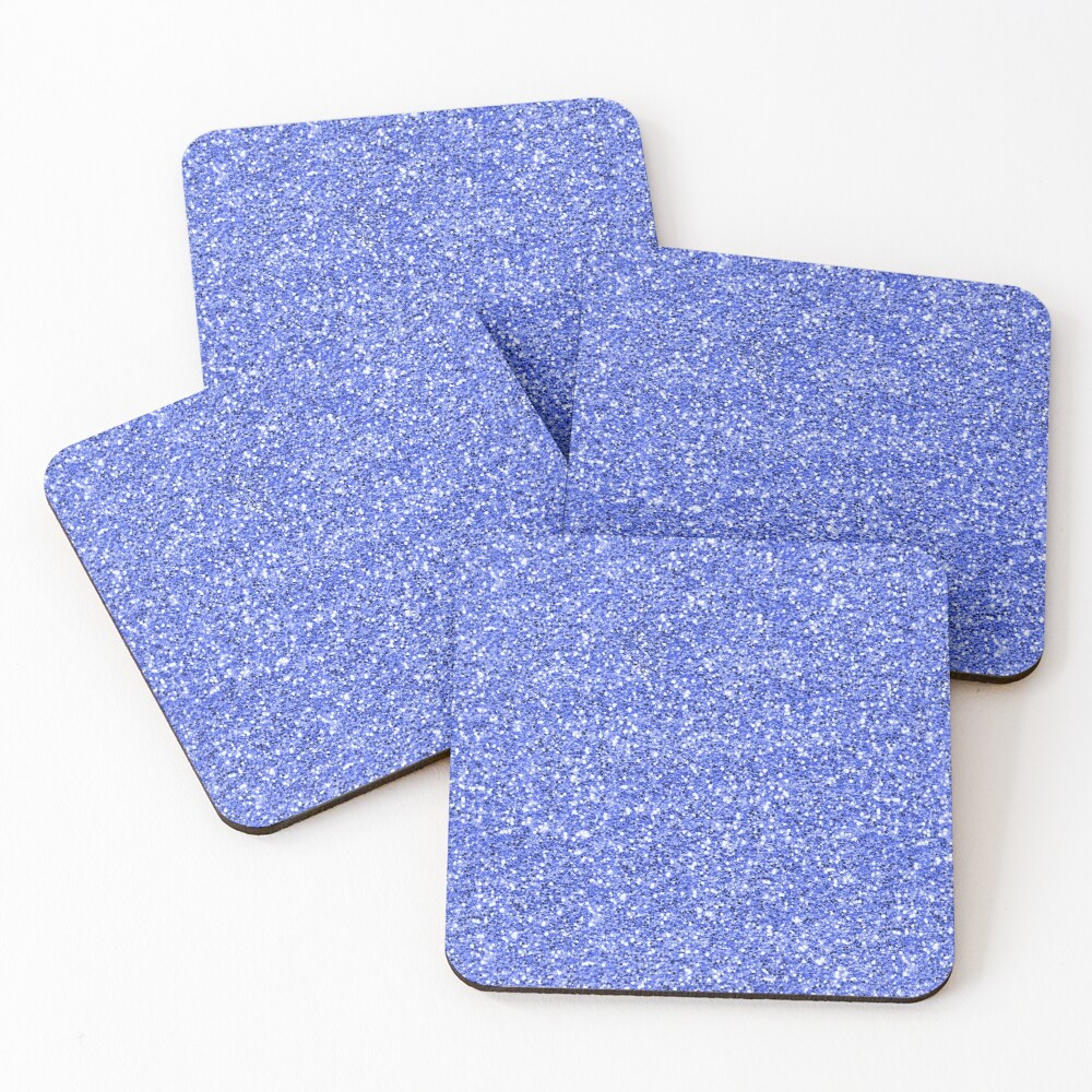 Blue glitter background on to Coasters (Set of 4)