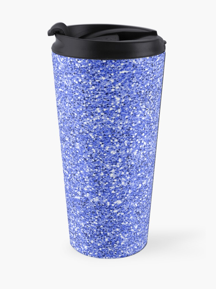 Alternate view of Blue glitter background on to Travel Mug
