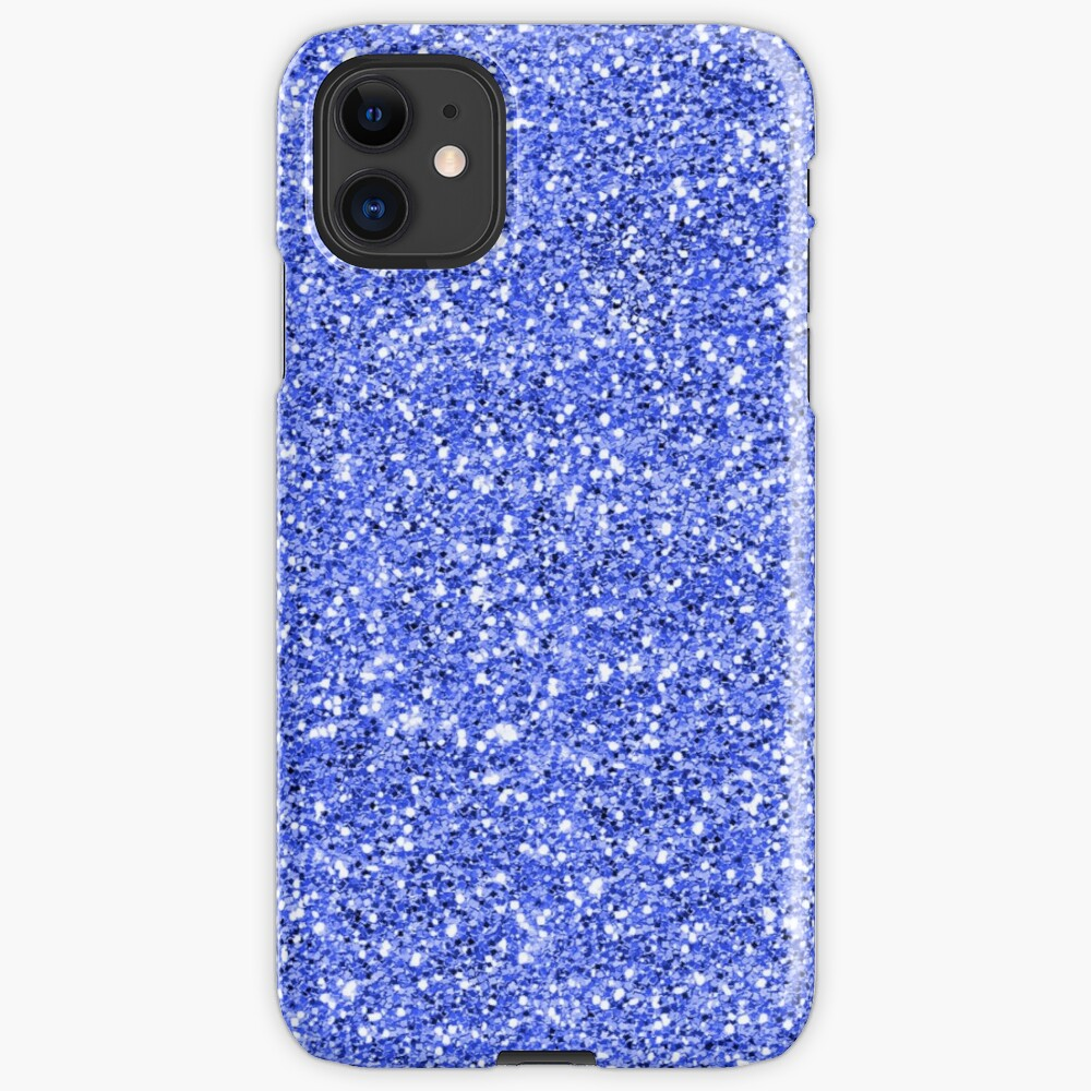 Blue glitter background on to iPhone Case & Cover