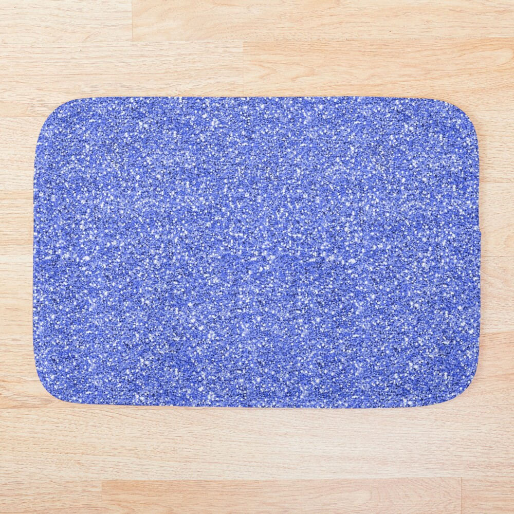 Blue glitter background on to Bath Mat