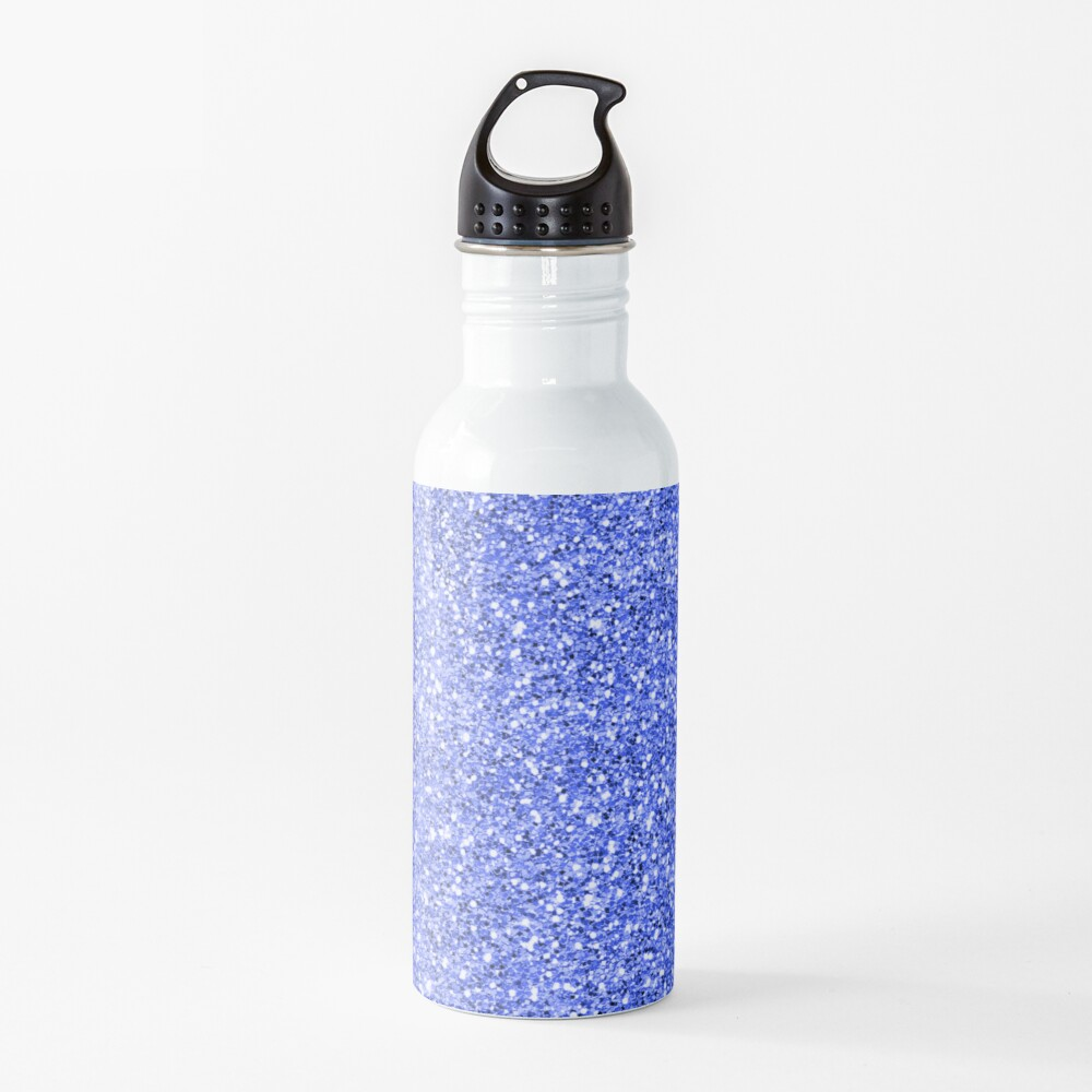 Blue glitter background on to Water Bottle