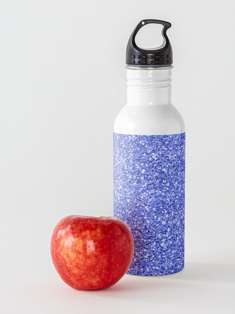 Alternate view of Blue glitter background on to Water Bottle