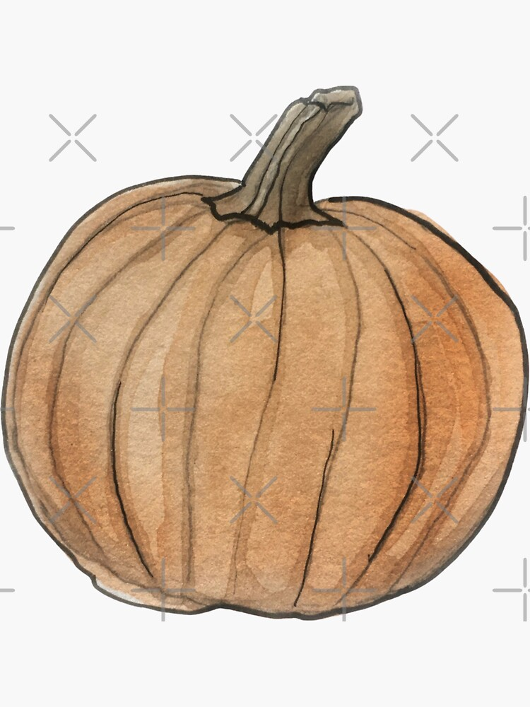 Pumpkin Illustration in Watercolor by WitchofWhimsy