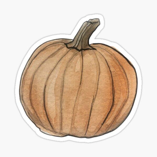 Pumpkin Illustration in Watercolor Sticker