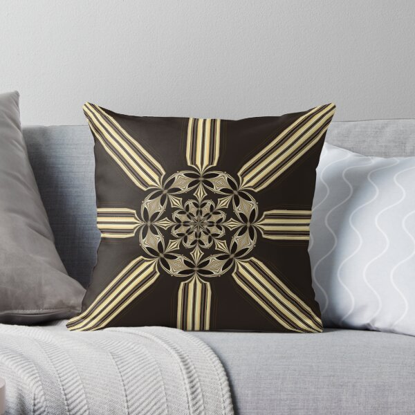 Bohemian Flower (2) Throw Pillow
