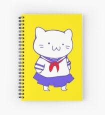 School Girl Kitty Spiral Notebook