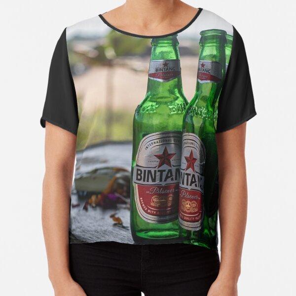 Bali Indonesia Bintang Beer Chiffon Top