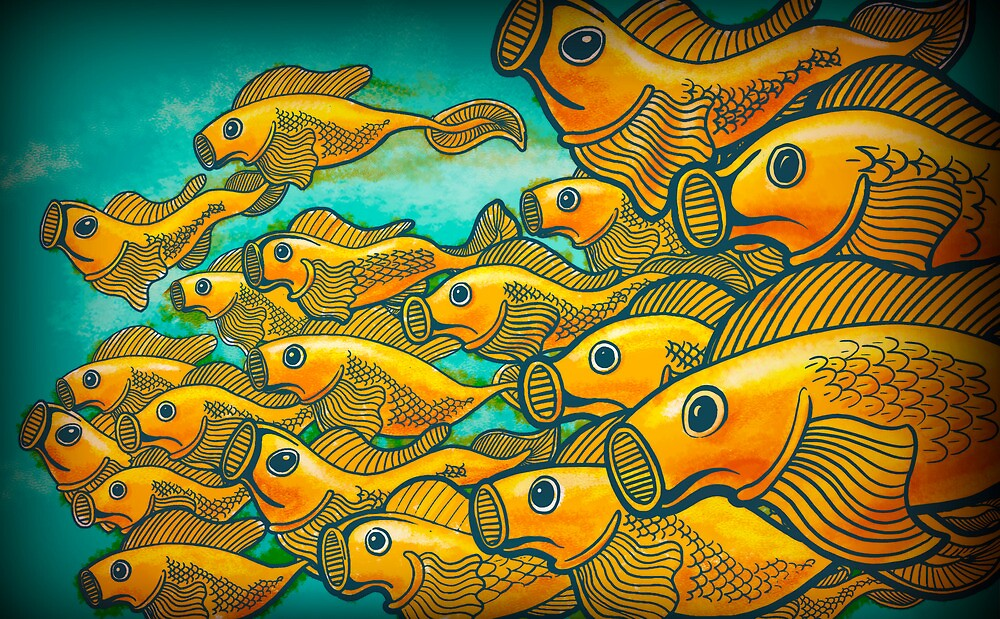 Golden Fishies by artofmiggy