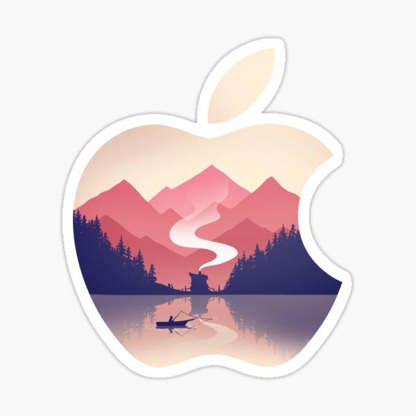 Apple Nature Logo Sticker